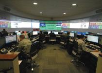 The Defense Information Systems Agency command center at Fort Meade, Maryland, in 2013.