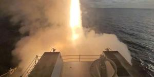 The USS John Finn launches a missile during the U.S. Pacific Fleet's Unmanned Systems Integrated Battle Problem 21 in April. Integrating unmanned systems into the fleet is one of the challenges facing the Navy as it modernizes to meet growing adversarial threats.  U.S. Navy photo