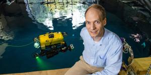 With fewer techniques to map and maneuver than aerial robots, underwater robots have to rely on advanced sonar sensors and other tools, such as multibeam sonar processing and virtual occupancy grid mapping, says Carnegie Mellon University professor Michael Kaess.  Carnegie Mellon University/Michael Henninger