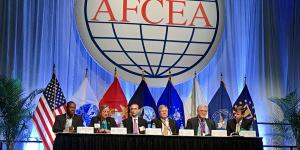 Panelists discuss cybersecurity at AFCEA's Defensive Cyber Operations Symposium.