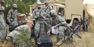 U.S. Army soldiers conduct satellite communications terminal training at Fort Hood, Texas. Future satellite communications terminals may be more resilient, reliable, automated and easy to use.  U.S. Army photo by Spc. Danielle Ferrer