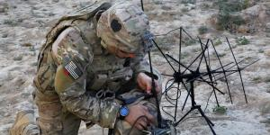 A U.S. Army soldier with the 101st Airborne Division sets up radio communications inside an abandoned fortress in Afghanistan's Parwan province. Warfighters' lives often depend on adequate access to radio spectrum. An NSF effort to improve spectrum access will benefit all users, including military, government and industry.