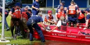 Coast Guard rescue efforts during recent hurricanes are aided by web technologies, including Google Street Maps and Facebook.  U.S. Coast Guard photo by Chief Warrant Officer Andrew Matthews, USCG