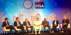 Directors of the 'Big 6' in the U.S. intelligence community speak during the third annual Intelligence and National Security Summit in Washington, D.C.