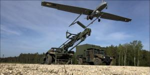 U.S. soldiers assigned to the Regimental Engineer Squadron, 2nd Cavalry Regiment, launch the RQ-7 Shadow, an American unmanned aerial vehicle (UAV), in Rose Barracks, Germany, in May 2020. The service relies heavily on UAVs to provide surveillance and reconnaissance support for warfighters and, as such, needs future power capabilities for longer UAV flights.  U.S. Army photo by Maj. John Ambelang