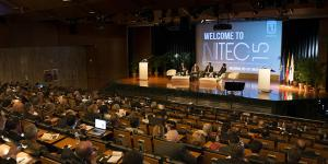 The audience listens to a panel discussion at NITEC 2015.