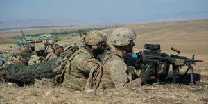 U.S. soldiers stand by for firing orders during exercise Agile Spirit 19 near Tbilisi, Georgia. A global threat picture vastly different from the one during the war on terrorism has compelled the Defense Intelligence Agency to revamp its technology base to serve greater levels of decision makers and warfighters.  U.S. Army photo