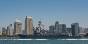 The guided-missile destroyer USS Gridley leaves San Diego in June for its new home port of Everett, Washington. The crew of approximately 250 is trained to execute multimission tasking, including air, surface, undersea, space and cyber warfare.