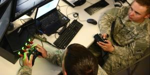 U.S. Army cyber warriors defend the network at the tactical operations center for the 2nd Armored Brigade Combat Team, 1st Armored Division, during a Network Integration Evaluation in fall 2015.