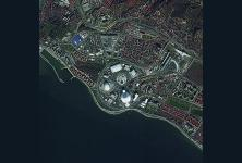 A Pleiades satellite image clearly shows buildings, including Olympic venues, in Sochi, Russia. The National Geospatial-Intelligence Agency is employing its own intelligence products to help personnel from other intelligence organizations locate and identify structures worldwide that might be the source of hostile cyber activity.