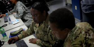 Active-duty, Reserve and National Guard service members participate in exercises sponsored by U.S. Cyber Command. On Friday, President Donald Trump elevated the command to a unified combatant command. Photo: Chief Petty Officer Dennis J. Herring, USN