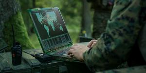 The multidomain operations concept envisions future wars being executed extremely fast and incorporating a great deal of automation and networking to connect sensors to warfighters across all domains—land, air, sea, space and cyber. Credit: Gorodenkoff/Shutterstock