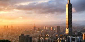 """A view of Taipei, Taiwan's capital city, extends over the horizon. Military action by China against Taiwan may """"only be a matter of time, and not a matter of 'if,'"""" warns Rear Adm. Michael Studeman, USN, the intelligence leader, or J-2, of the U.S. Indo-Pacific Command. Credit: Shutterstock/SkyImages"""