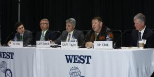 Panelists at WEST 2020 examine how to stand up to China's South China Sea aggression. Photo by Michael Carpenter