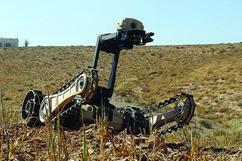 The Micro Tactical Ground Robot includes encryption, ensuring the safety of operators and innocent personnel when emplacing an improvised explosive device countercharge, preventing unintended commands given to the robot.