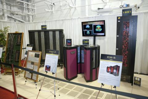 The U.S. Army has a long history of using supercomputers to further research and development toward meeting warfighter needs. A historical display of past Army supercomputers was part of the dedication of the new Army Supercomputing center.