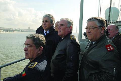 Adm. Saldanha Lopes, aboard a ship with other military and civilian officials, believes that Portugal will be able to transform its navy within the confines of a tight defense budget.