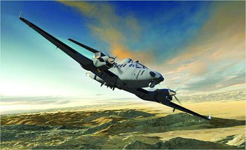 Artist's rendering of the Enhanced Medium Altitude Reconnaissance and Surveillance System scheduled for fielding to the U.S. Army in 2014. The system will provide enhanced connectivity to the Distributed Common Ground System-Army, the service branch's premier intelligence enterprise.