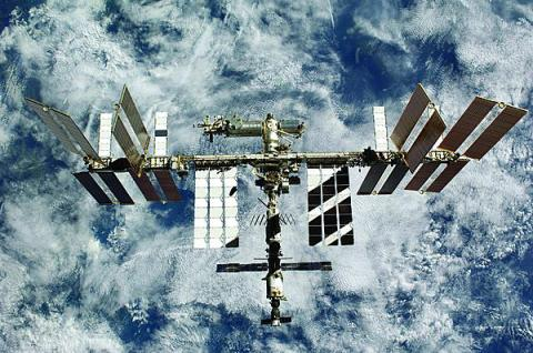 The International Space Station is an example of multinational cooperation in the space domain.