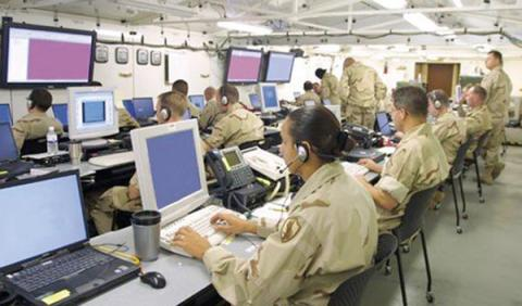 CENTCOM communications personnel work to keep networks running in-theater and in-garrison as threats from cybercriminals multiply and budgets constrain resources.