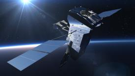 The U.S. Space Force certified as ready the fifth Space Based Infrared System Geosynchronous Earth Orbit satellite (SBIRS GEO-5). The satellite will be launched in 2021. Credit: Lockheed Martin