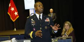 Lt. Gen. Bruce T. Crawford, USA, Army G-6 and chief information officer, cites two major changes already bearing fruit as the Army aims for network modernization.