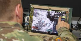 The Network Coverage Overlay can be used to maintain a communications link with robotic vehicles. Credit: U.S. Army CCDC C5ISR Center photo/Dan Lafontaine
