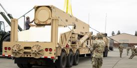 The U.S. Army has delivered the first prototype hardware for the Long Range Hypersonic Weapon system to a battalion of the 17th Field Artillery Brigade. U.S. Army photo by SPC Karleshia Gater