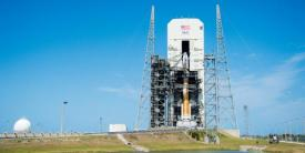 The Space and Missile Systems Center's (SMC's) Wideband Global Satellite-10 (WGS-10) is encapsulated in the Delta IV rocket for its launch in March 2019 at Cape Canaveral Air Force Station. SMC just completed a test of a key anti-jamming technology that it plans to add to satellites WGS 1 through WGS 10. Credit: Van Ha, SMC Public Affairs.