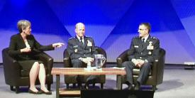 Secretary of the Air Force Heather Wilson, Gen. Stephen Wilson, USAF, vice chief of staff for the Air Force, and Air Force Maj. Gen. William Cooley, commander, Air Force Research Laboratory, discuss the process to update the service's research priorities.
