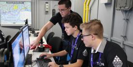 Florida-based students participated in the third annual CyberThon challenge in January.