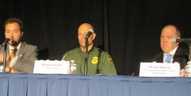 Panelists discuss immigration policies during the FCEA Homeland Security Conference.