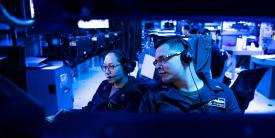 U.S. Navy cryptologic technicians stand watch in the combat information center of the USS Milius in the East China Sea. U.S. Indo-Pacific Command (INDOPACOM) intelligence experts are addressing the long-expected emergence of China as a regional adversary with global intentions. (U.S. Navy photo by MC2 Taylor DiMartino, USN)