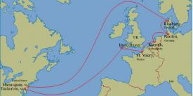 Transatlantic communication cable systems such as the TAT-14, which connects the United States to France, the Netherlands, Germany, Denmark and the United Kingdom, are susceptible to attack, according to a recent report. Photo: Sprint Corp.