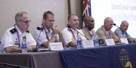 Panelists at TechNet Asia-Pacific discuss C4 capabilities.