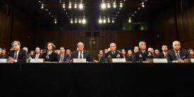 Intelligence community (IC) leaders, led by Dan Coats, director of National Intelligence, testify before the U.S. Senate as to the growing threats the country is facing from non-state and state actors. The IC's CIO, John Sherman, is calling for urgency in developing U.S. capabilities, so the country will not be surpassed by adversaries' use of cyber, artificial intelligence and other technologies. Credit: ODNI