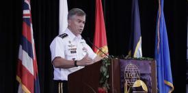 Lt. Gen. Bryan P. Fenton, USA, deputy commander, U.S. Pacific Command, speaks at TechNet Asia-Pacific.