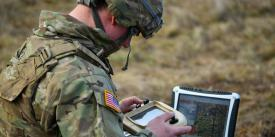 A U.S. Army specialist tracks and monitors flight hours for an RQ-11 Raven unmanned aerial vehicle. Multiple Army initiatives aim to better attract and retain a talented workforce, including those with technical skills. Credit: U.S. Army