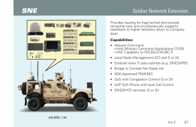 "The Soldier Network Extension (SNE) is a lower level network ""healing"" node that also passes messages and data up the chain of command."