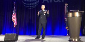 Lt. Gen. Timothy Haugh, USAF, reports that the 16th Air Force reached full operational capability on April 21, during a virtual AFCEA Alamo luncheon event the same day. The general also spoke at the chapter's ACE event in November.