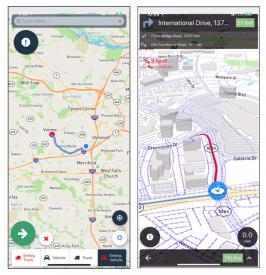 Even with all its special features, the QuickRoute app resembles the map apps first responders are accustomed to from personal use.