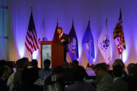 Six key characteristics matter for cyber situational awareness: speed, resiliency, intelligence, integration, analytics and expertise, says Maj. Gen. Earl Matthews, USAF, (Ret.), now vice president for Enterprise Security Solutions, U.S. public sector, Hewlett Packard Enterprise. Photo by Mike Carpenter