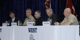 Panelists discuss manning, training and equiment at WEST 2020. Photo by Michael Carpenter