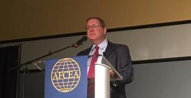 David Sanger, national security correspondent for The New York Times, discusses cyber at the AFCEA-GMU C4I and Cyber Center Symposium.
