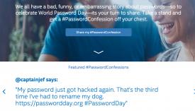 Intel Security's World Password Day website