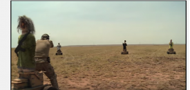 U.S. Air Force training in New Mexico uses robots to teach airmen how to operate better in tense situations.