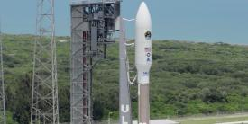 """With industry partners, including the United Launch Alliance, or ULA, the Space and Missile Systems Center (SMC) launches the fifth Advanced Extremely High Frequency Satellite (AEHF-5) at Cape Canaveral on an Atlas-V rocket in August 2019. Going forward the SMC will evolve into the Space Systems Command and will be seeking more horizontally focused solutions that can """"plug and play"""" into a whole range of capabilities. Credit: SMC Public Affairs, Walter Talens"""