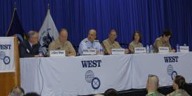 A West 2019 panel discusses combat operations in the cyber realm. Photo by Michael Carpenter