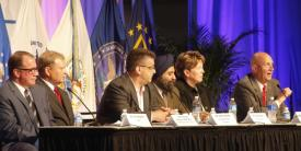 "Industry panelists discuss how to ""Secure, Operate and Defend in the Commercial Sector."""