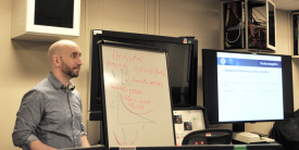 Mark Bailey teaches a class in applied data science for intelligence at the National Intelligence University. (NIU photo)